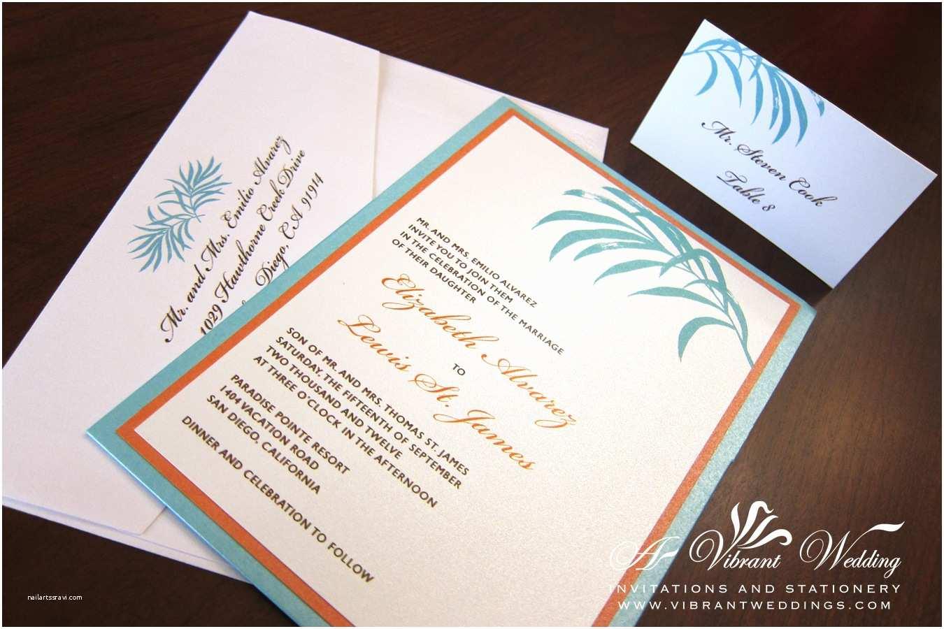 Tiffany Blue Wedding Invitations Tiffany Blue & orange Wedding Invitation – A Vibrant Wedding