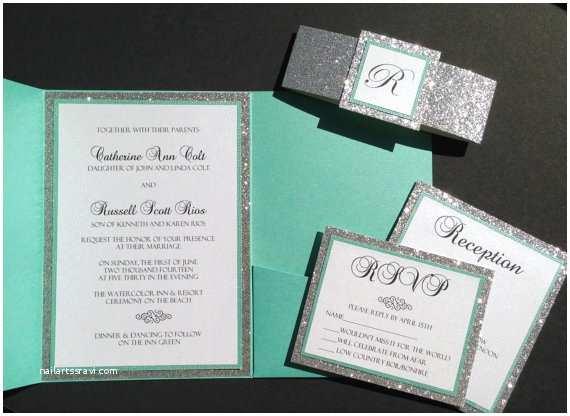 Tiffany Blue Wedding Invitations Tiffany Blue and Grey Wedding Invitation