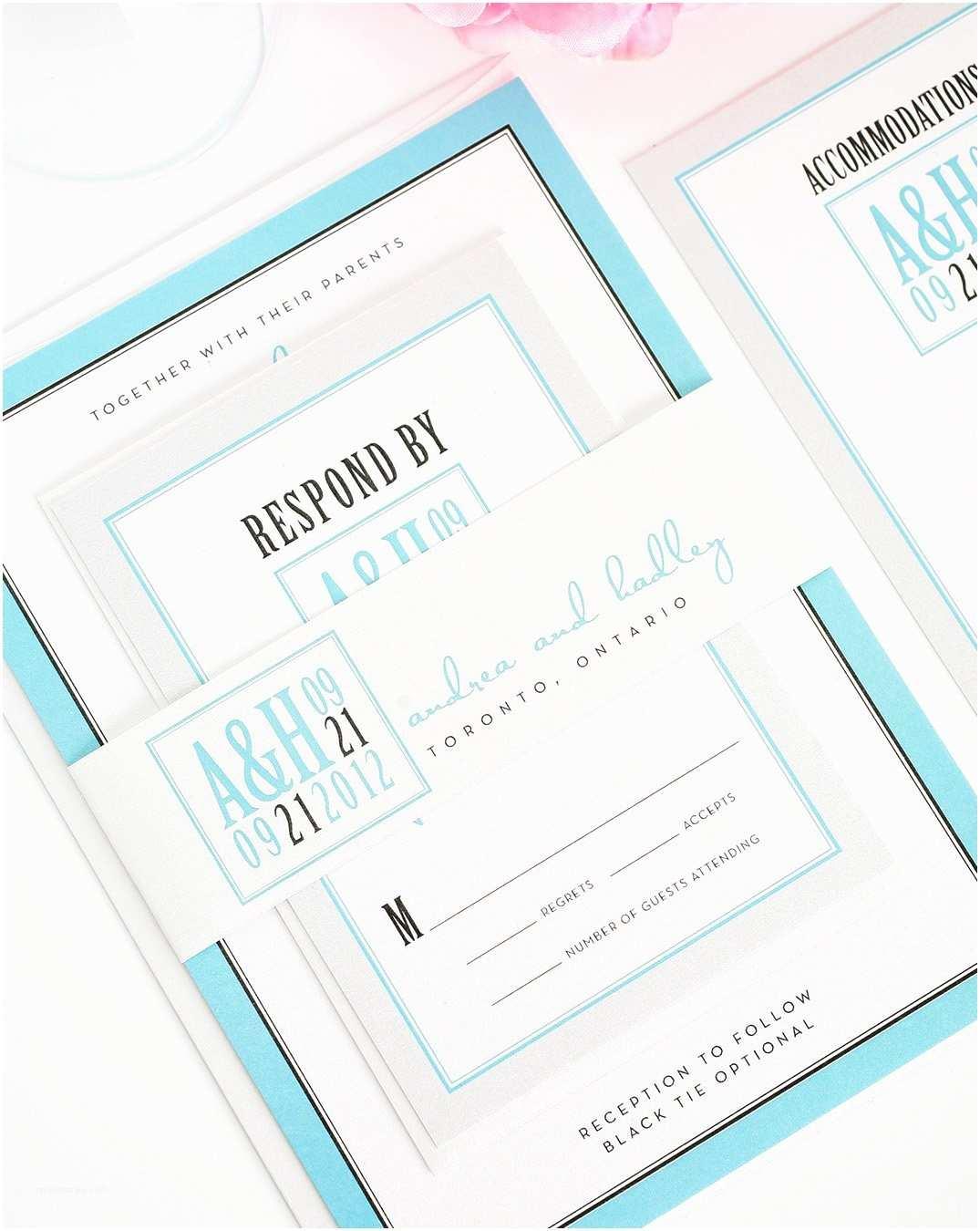 Tiffany Blue Wedding Invitations Tiffany Blue and Silver Wedding Invitation – Wedding