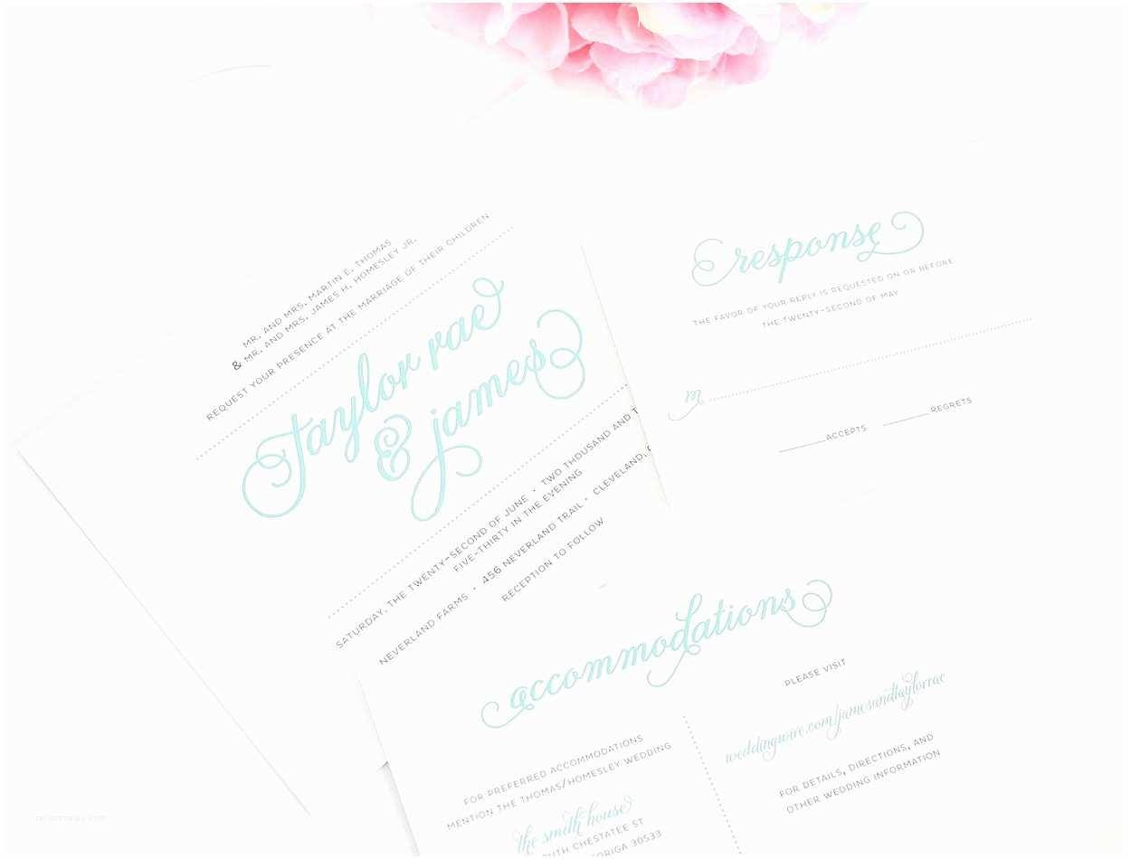 Tiffany Blue Wedding Invitations Tiffany Blue – Wedding Invitations