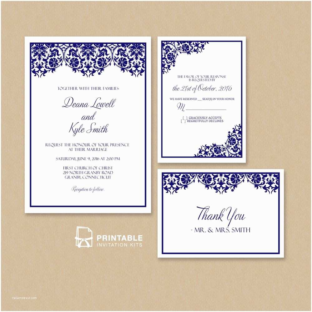Time Frame for Wedding Invitations Free Pdf Damask Frame Wedding Invitation Templates – Set