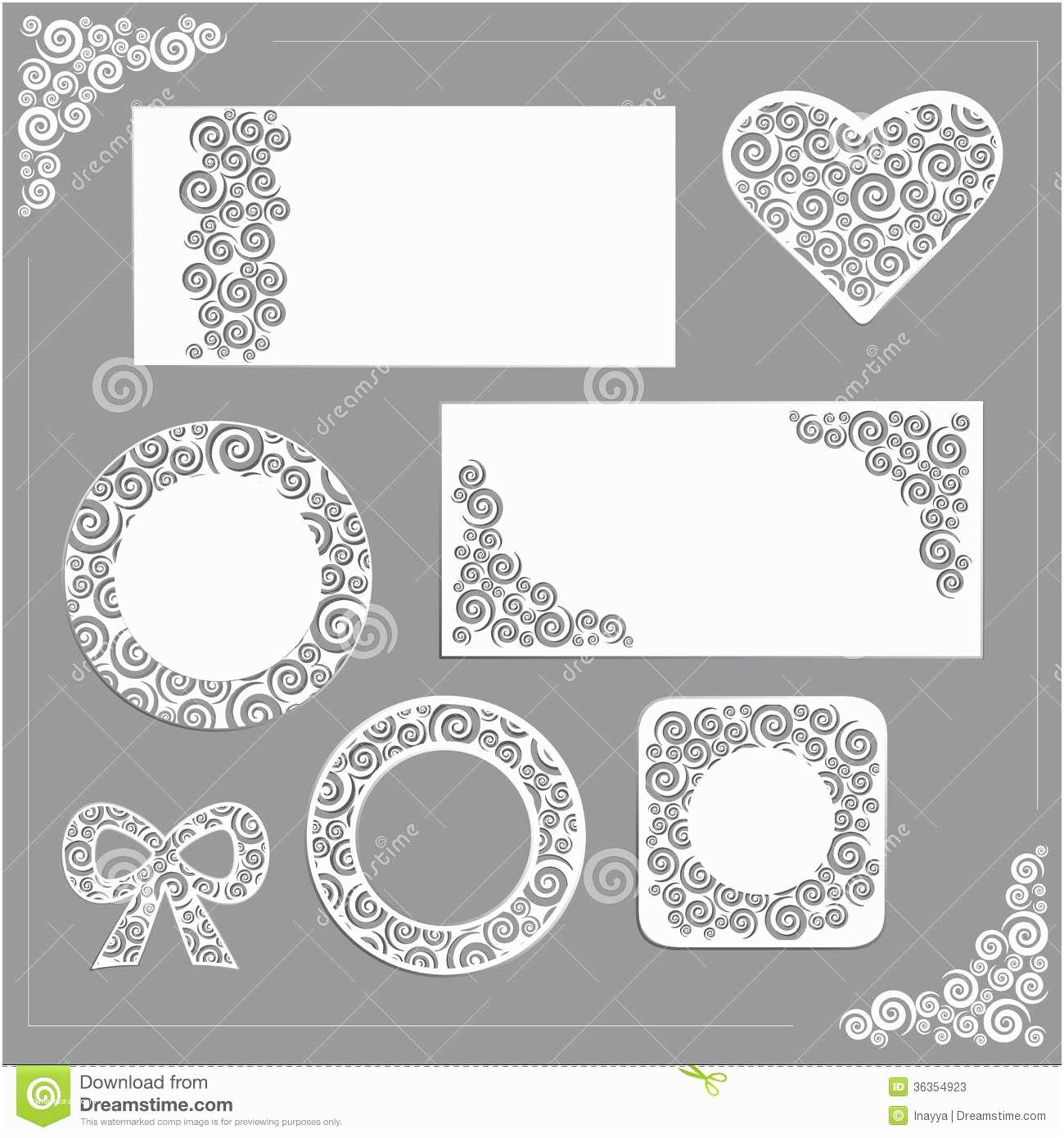 Time Frame for Wedding Invitations ornament Wedding Kit Stock Vector Image Of Collection