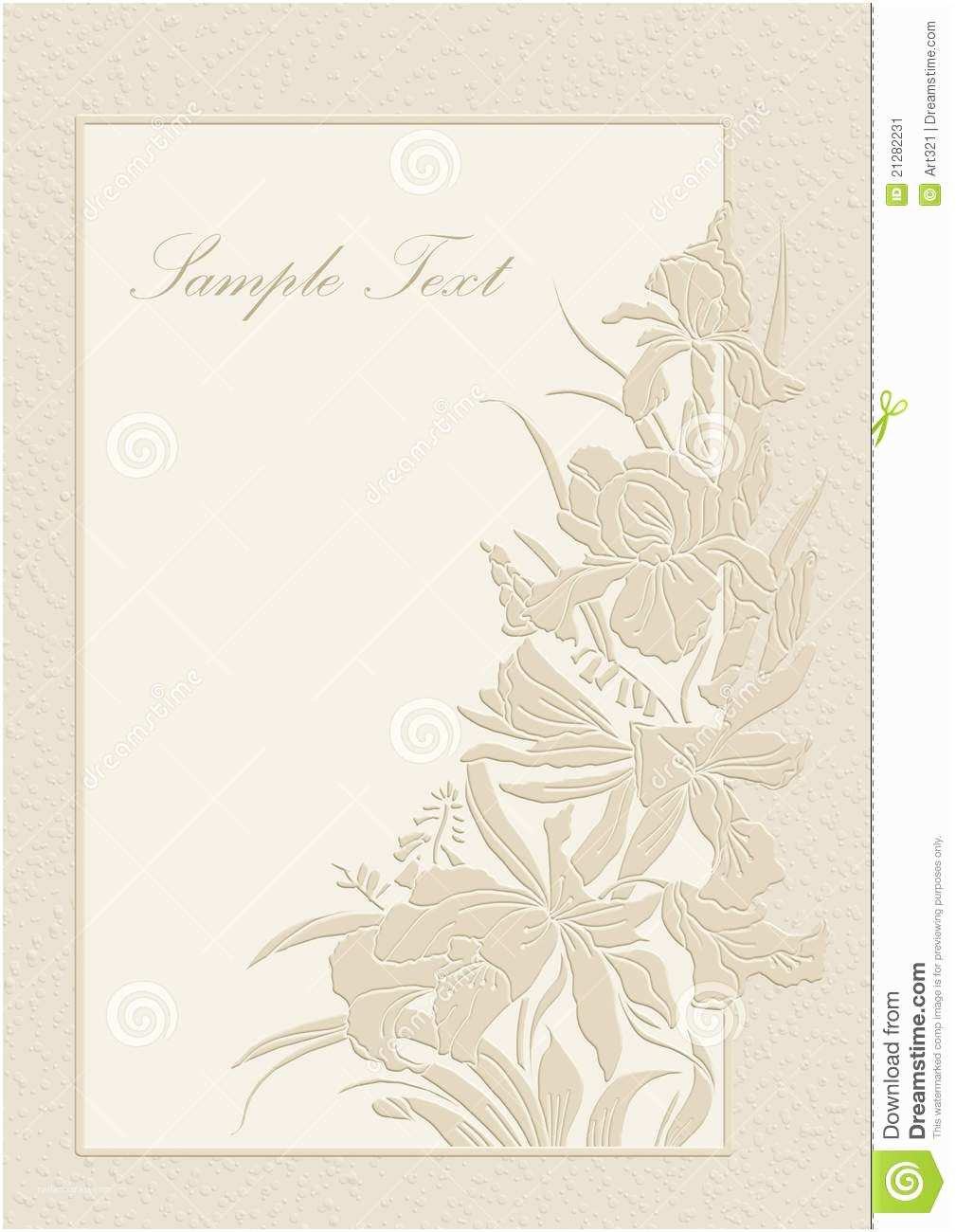 Time Frame for Wedding Invitations Wedding Invitation Frame orchids and Lilies Stock Image