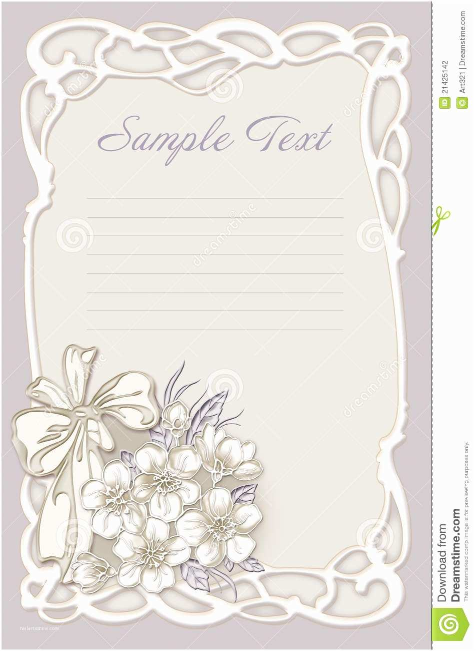 Time Frame for Wedding Invitations Wedding Invitation Frame with Flowers Stock Illustration
