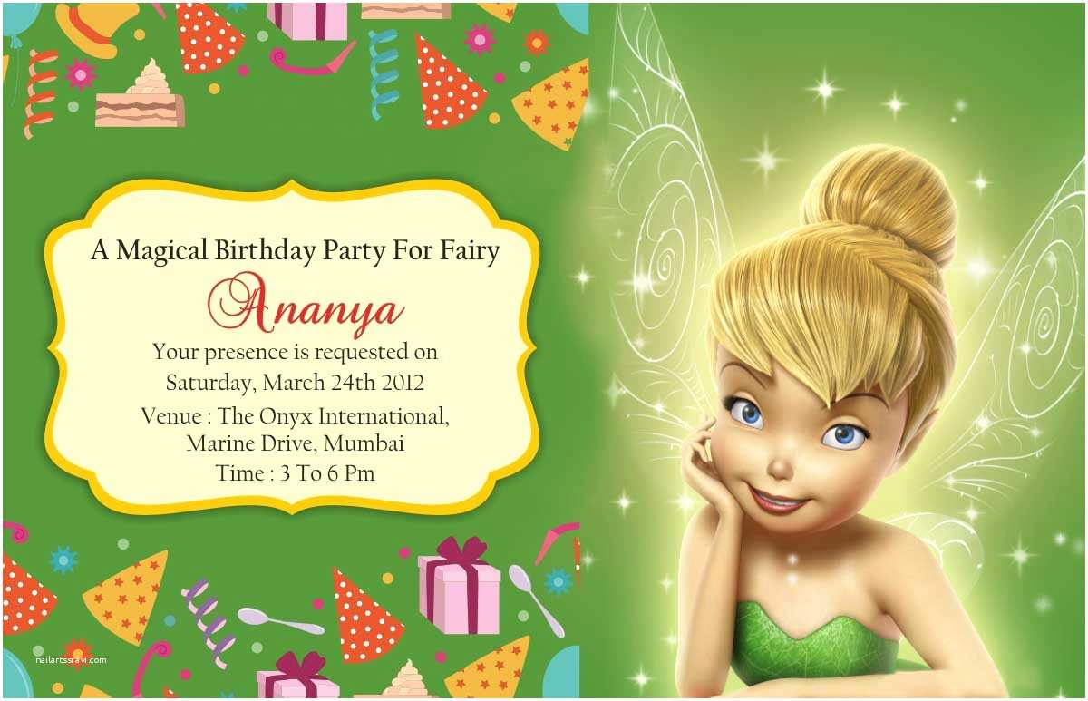 Tinkerbell Birthday Invitations Tinkerbell Birthday Invitation Cards