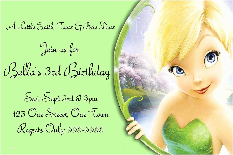 Tinkerbell Birthday Invitations Free Templates for Birthday Invitations