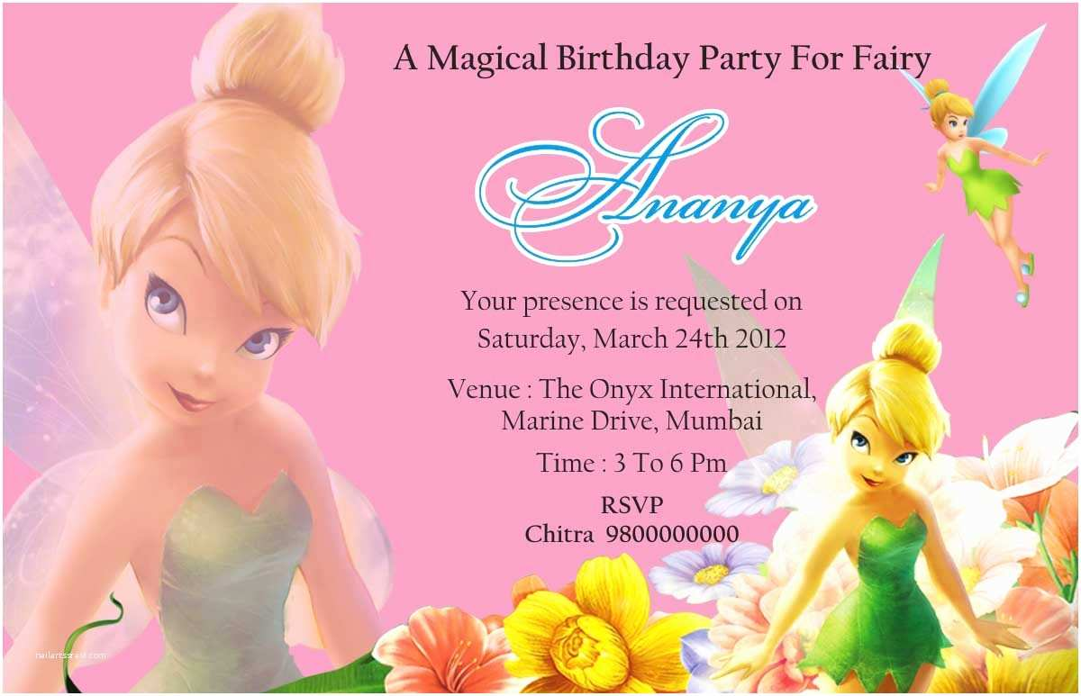 Tinkerbell Birthday Invitations Tinkerbell Birthday Quotes Quotesgram