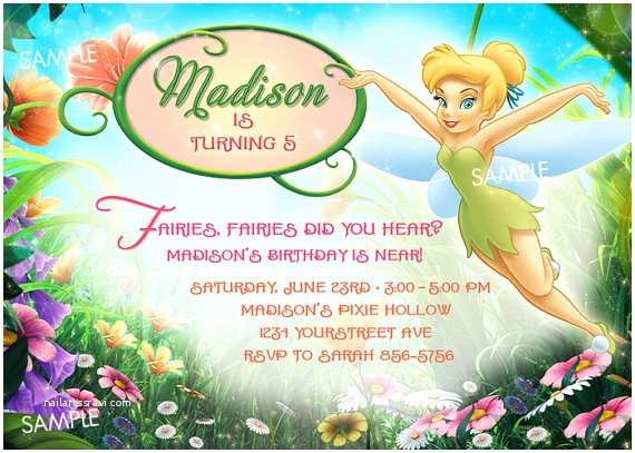 Tinkerbell Birthday Invitations Tinkerbell Invitation for Birthday Quotes Quotesgram