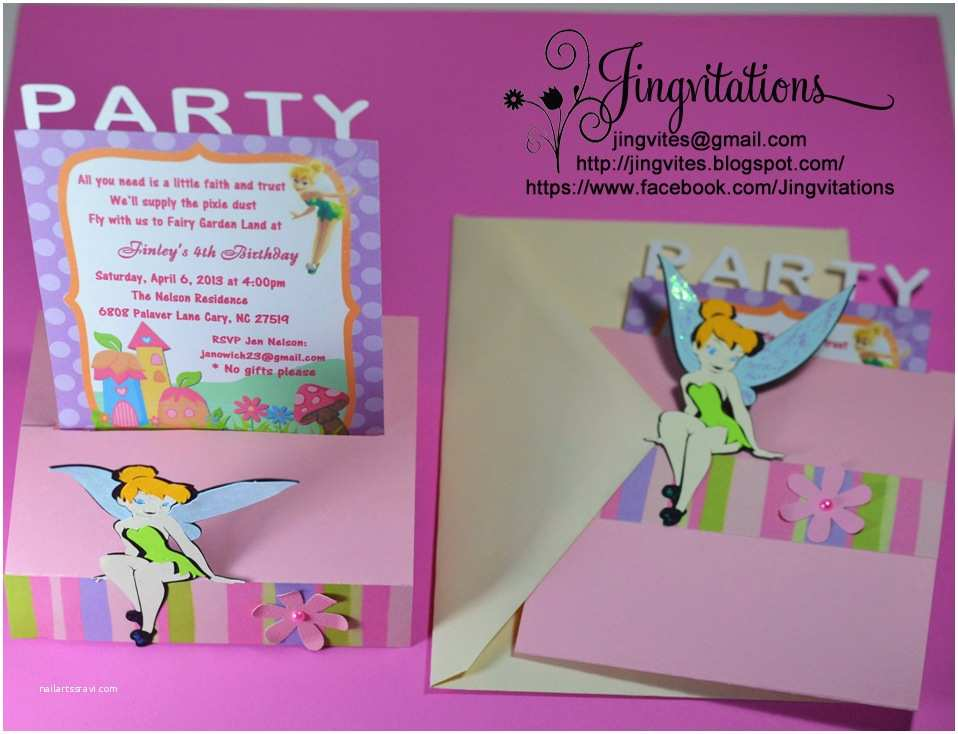 Tinkerbell Birthday Invitations Tinkerbell