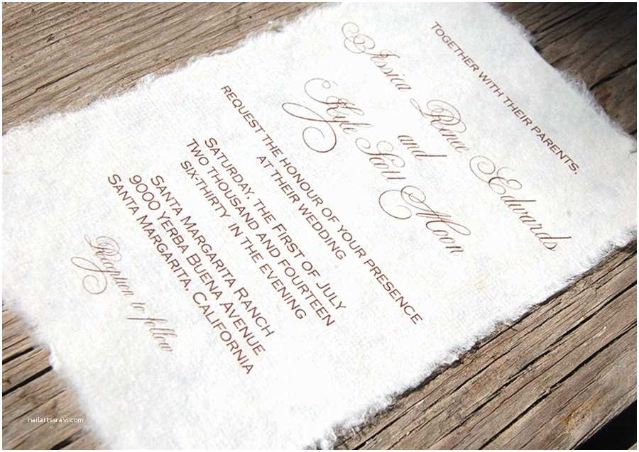 Tissue For Wedding Invitations Mulberry Paper Wedding Invitation – Handmade Paper