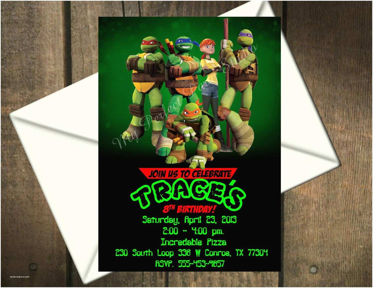 Tmnt Birthday Invitations Ninja Turtles Party Invitations Google Search