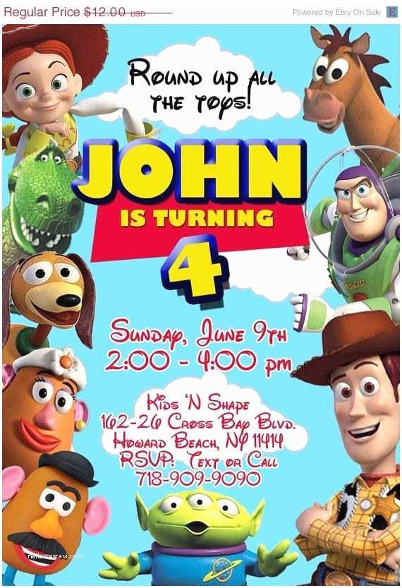 Toy Story Birthday Invitations 25 Best Ideas About toy Story Invitations On Pinterest