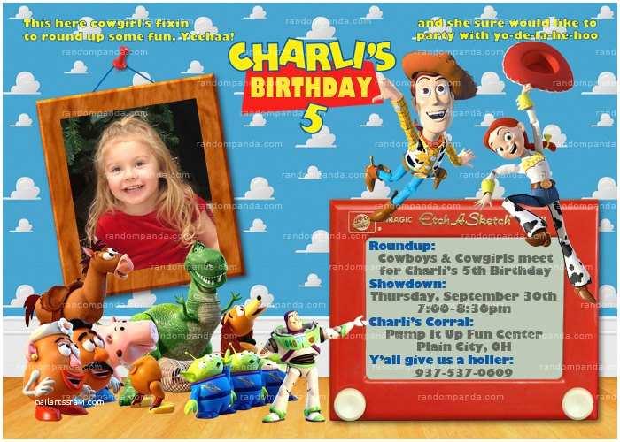 Toy Story Birthday Invitations Personalize toy Story Invitation Woody Invite Jessie