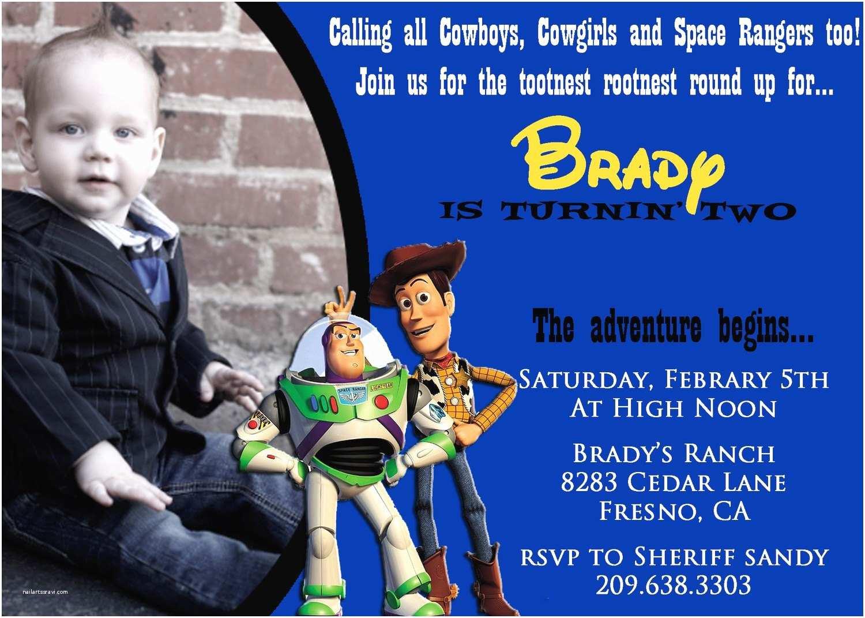 Toy Story Birthday Invitations toy Story Birthday Invitation with by