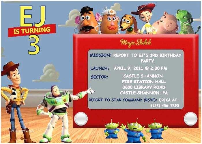 Toy Story Birthday Invitations toy Story Birthday Party Invitation