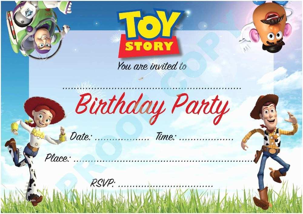 Toy Story Birthday Invitations toy Story Buzz Woody Kids Children Birthday Party
