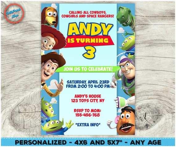 Toy Story Birthday Invitations toy Story Invitation toy Story Birthday Invitation toy Story