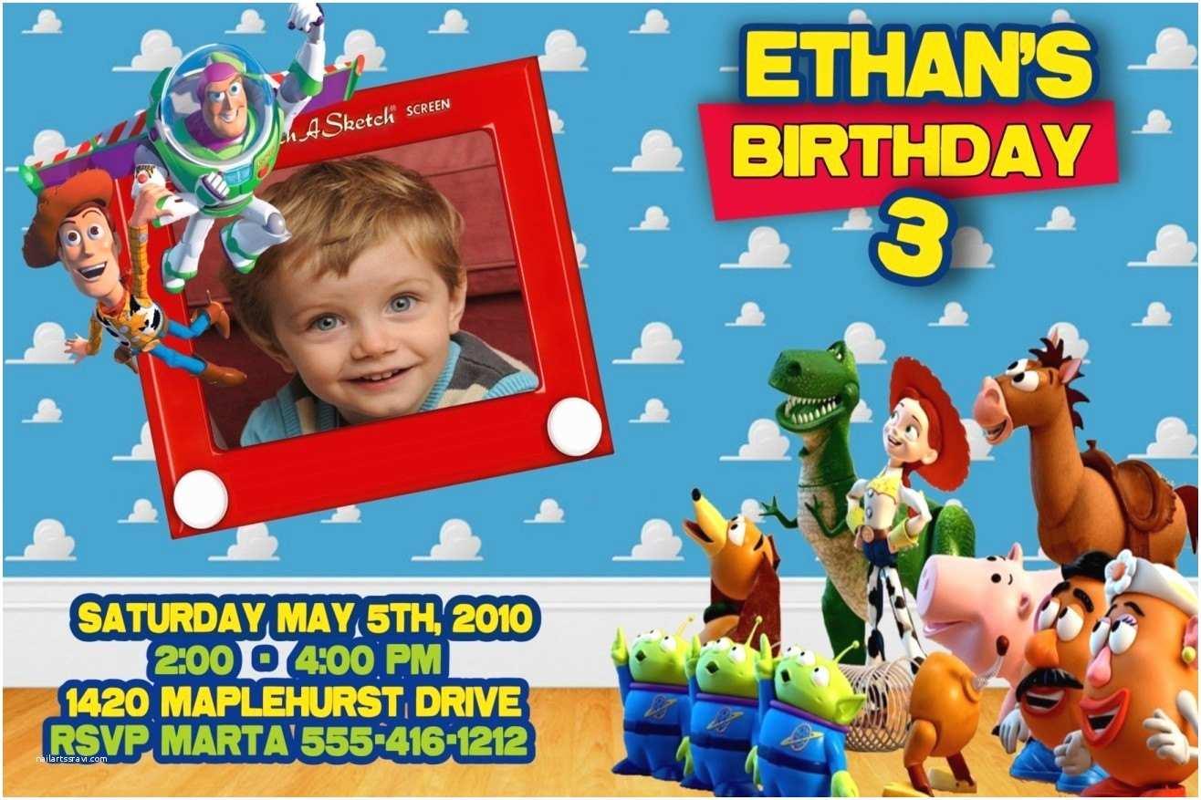 Toy Story Party Invitations 40th Birthday Ideas toy Story Birthday Invitation