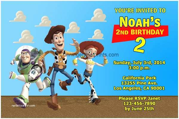 Toy Story Party Invitations Free Personalized toy Story Birthday Invitations Template