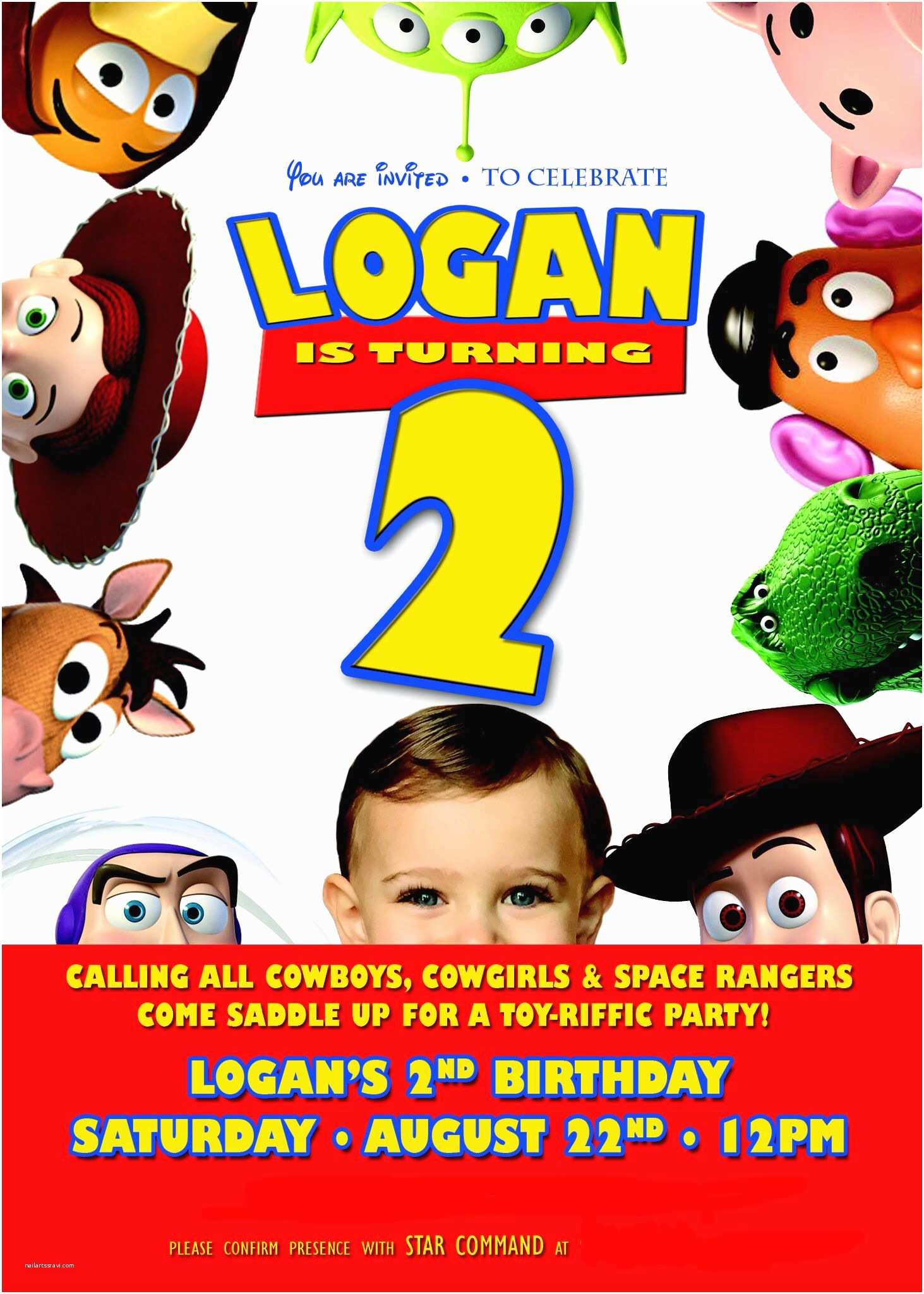 Toy Story Party Invitations the Invitation From Logan S toy Story Party
