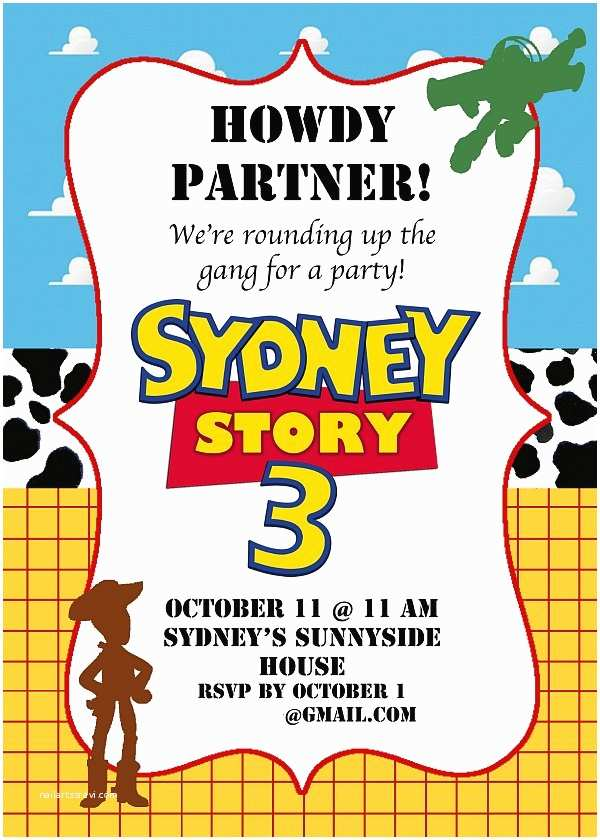 Toy Story Party Invitations toy Story Birthday Party Ideas