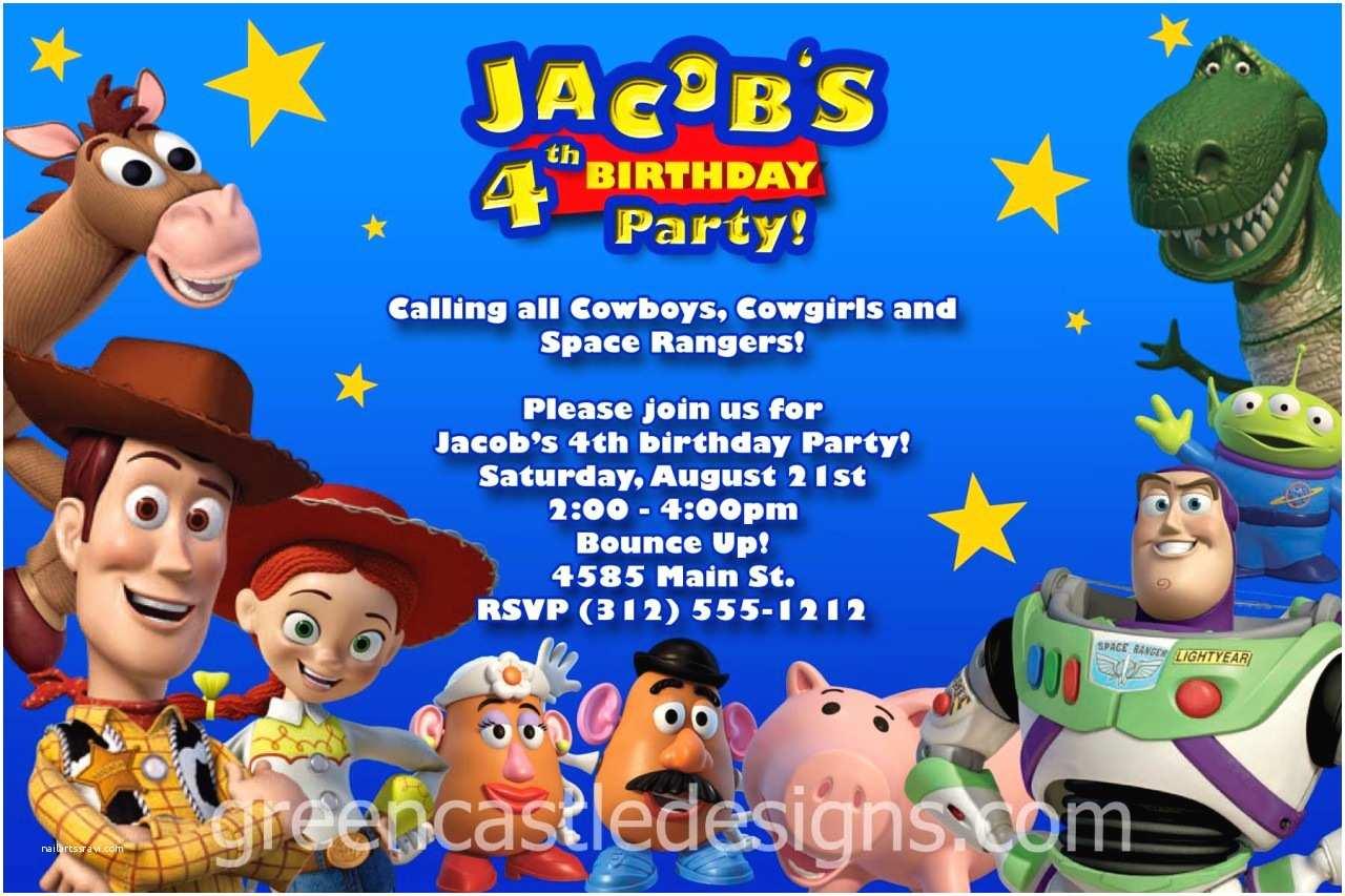 Toy Story Party Invitations toy Story Invitation 20 Custom Birthday Party