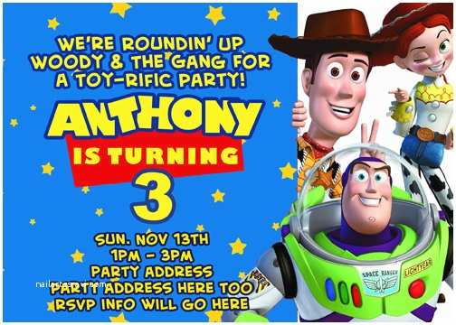 Toy Story Party Invitations toy Story Invitation Digital File 4x6 or 5x7 by Digitalparties