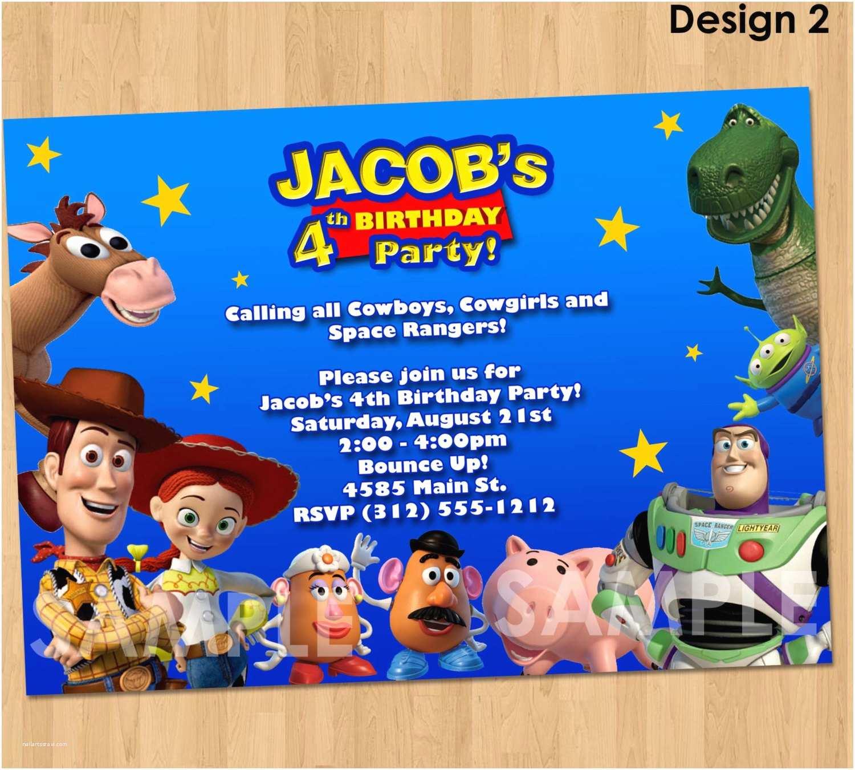 Toy Story Party Invitations toy Story Invitation toy Story Invite Custom Personalized