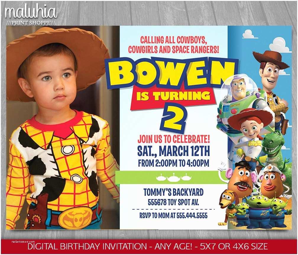 Toy Story Party Invitations toy Story Invitation toy Story Invite Disney Pixar toy
