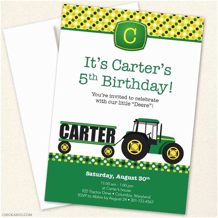 Tractor Birthday Invitations 20 Best Images About Mason S Birthday On Pinterest