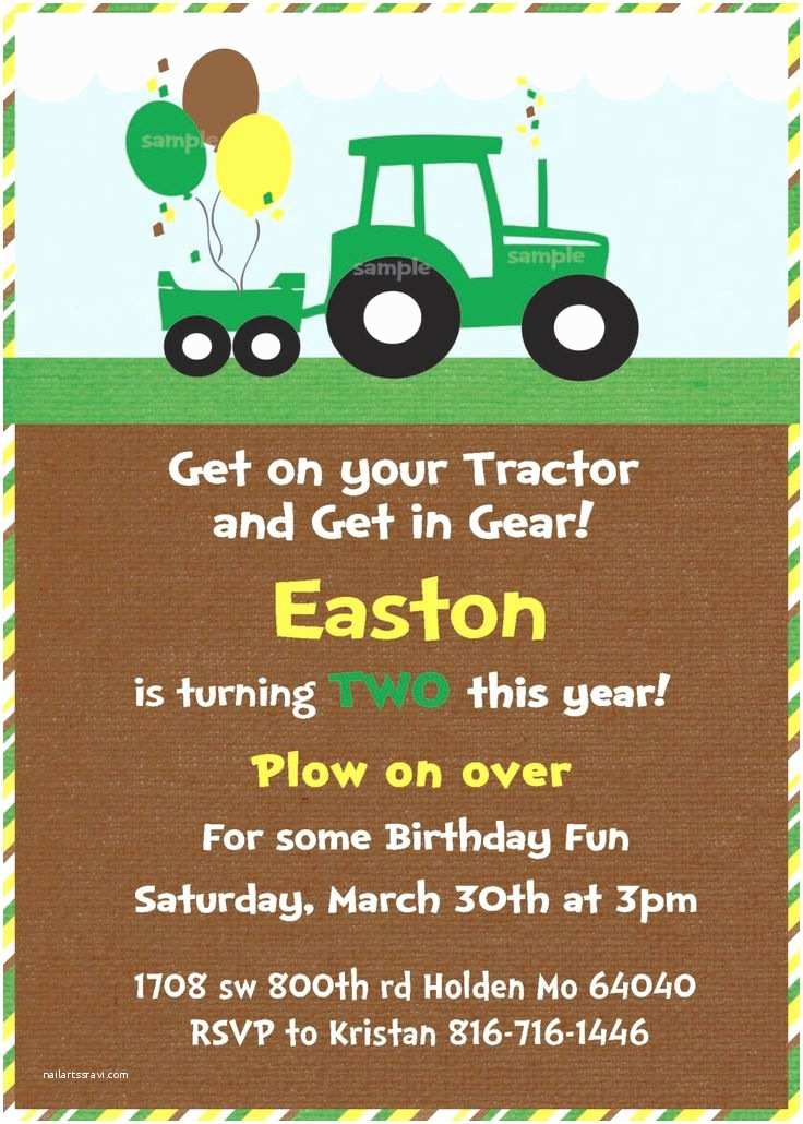 Tractor Birthday Invitations 25 Best Ideas About Tractor Birthday Invitations On
