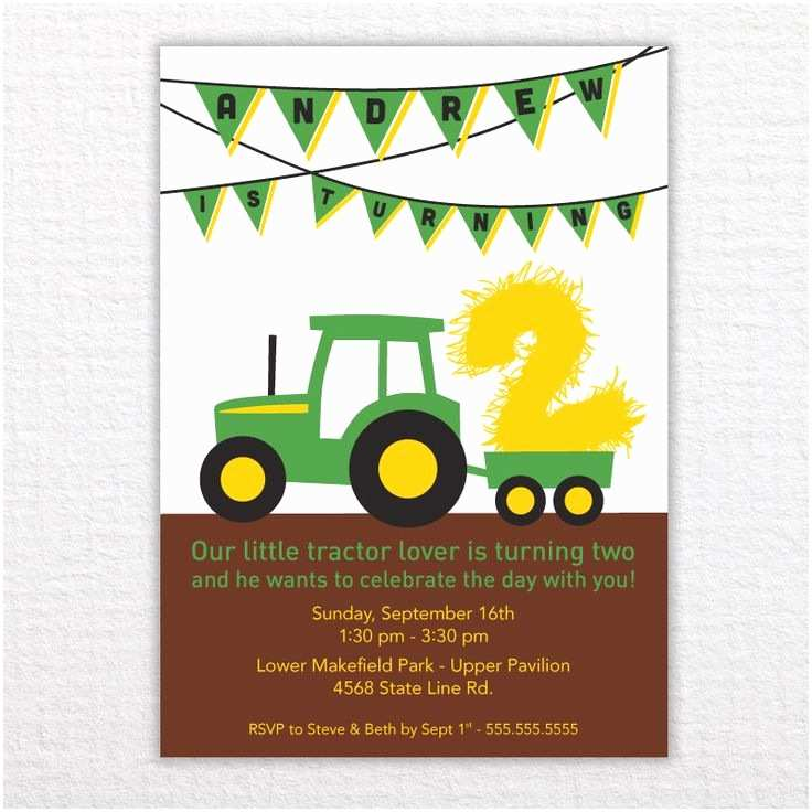 Tractor Birthday Invitations 63 Best John Deere Tractor Party Images On Pinterest