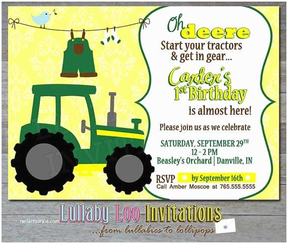 Tractor Birthday Invitations 66 Best Images About John Deere Ff On Pinterest