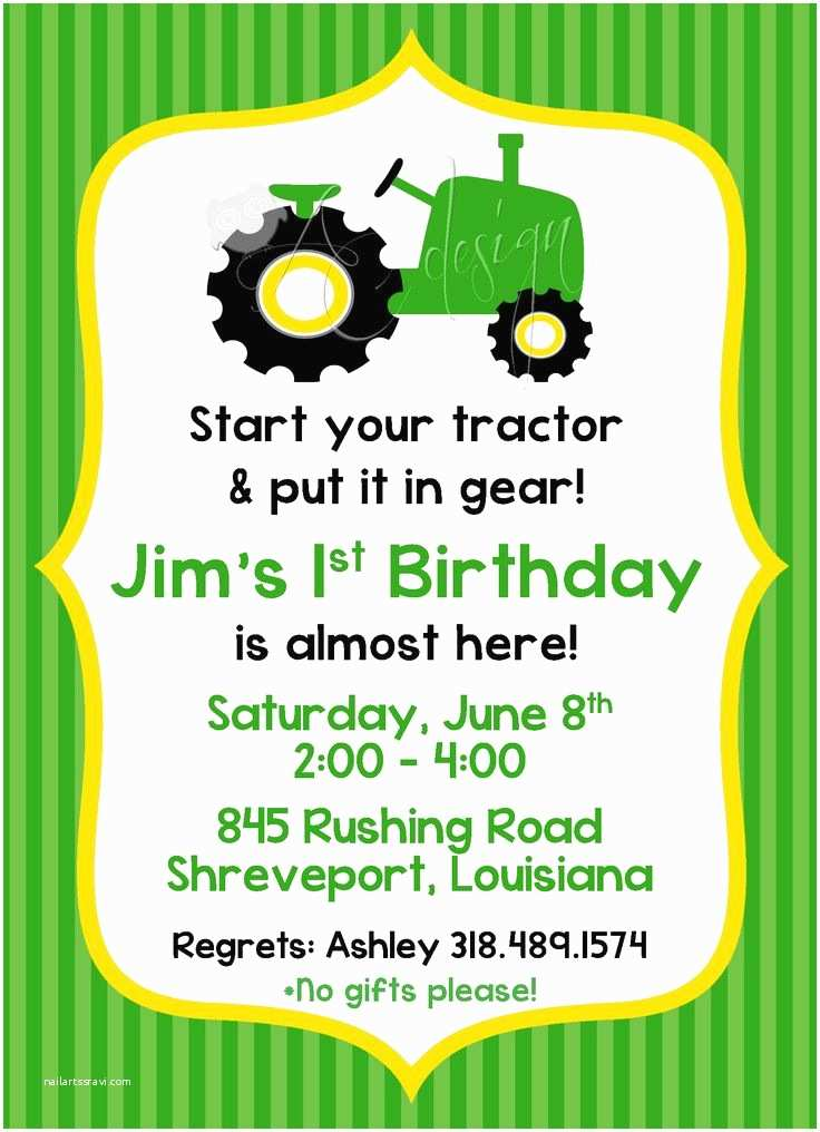 Tractor Birthday Invitations Best 20 Tractor Birthday Invitations Ideas On Pinterest