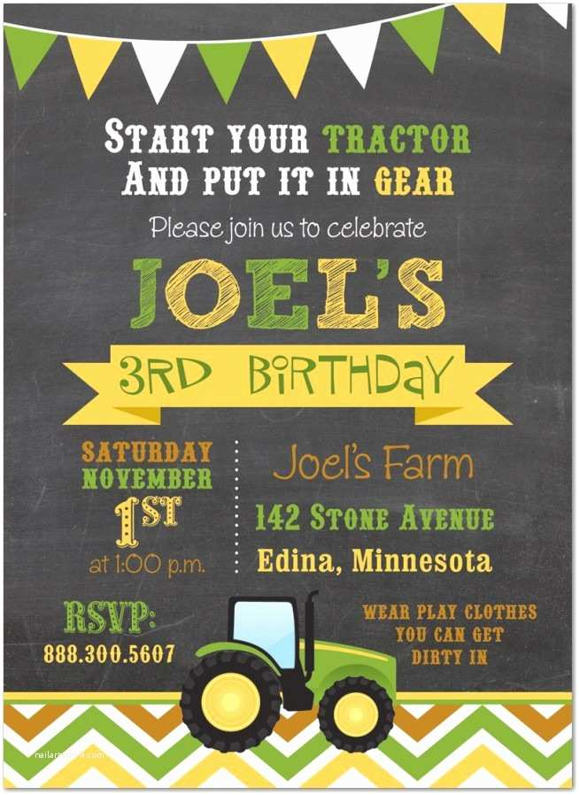 Tractor Birthday Invitations Birthday Invitation Templates Tractor Birthday Invitations