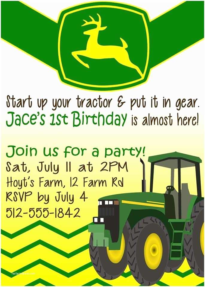 Tractor Birthday Invitations Birthday Invitation Tractor theme
