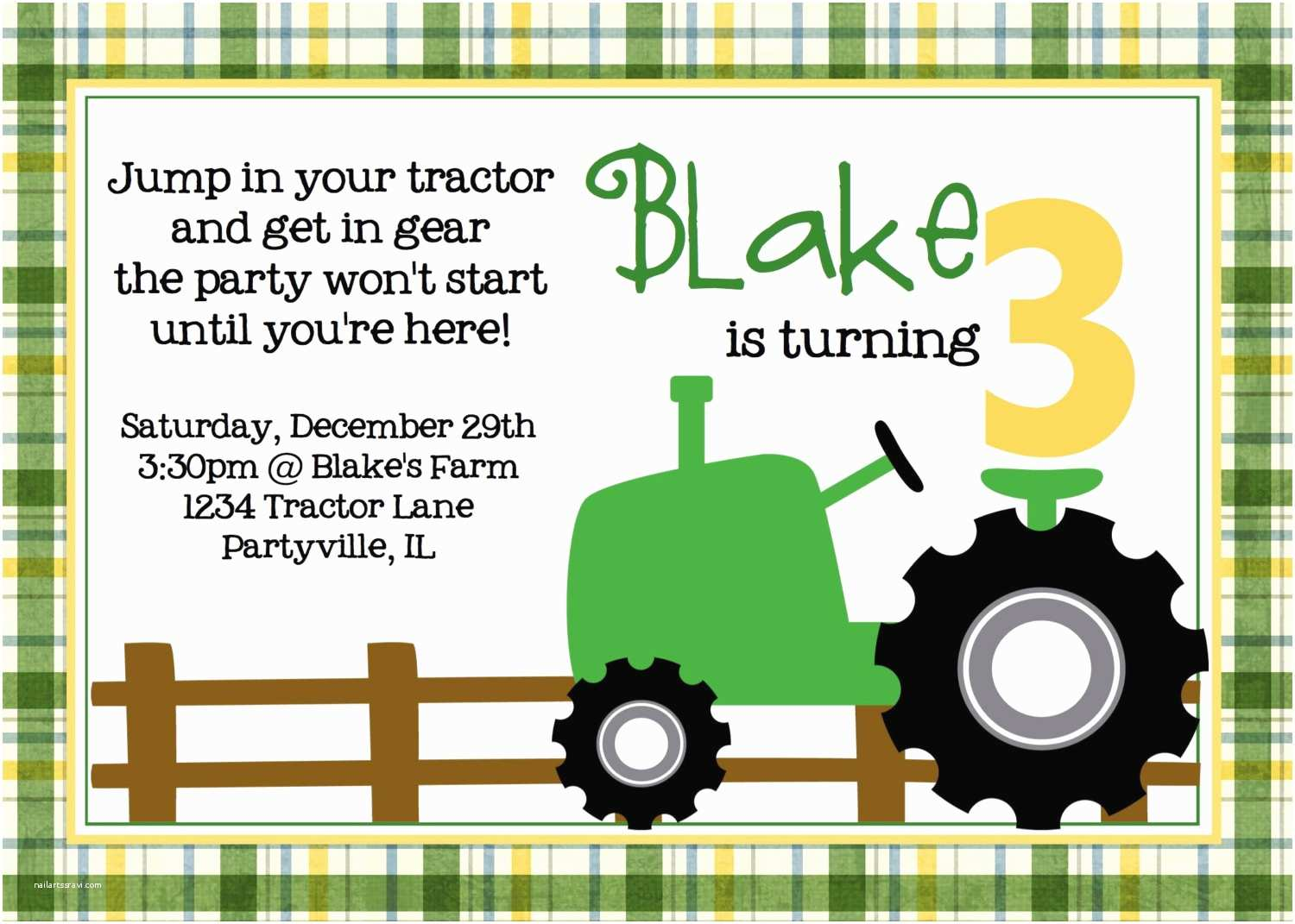 Tractor Birthday Invitations Birthday Invites Tractor Birthday Invitations Celebrate