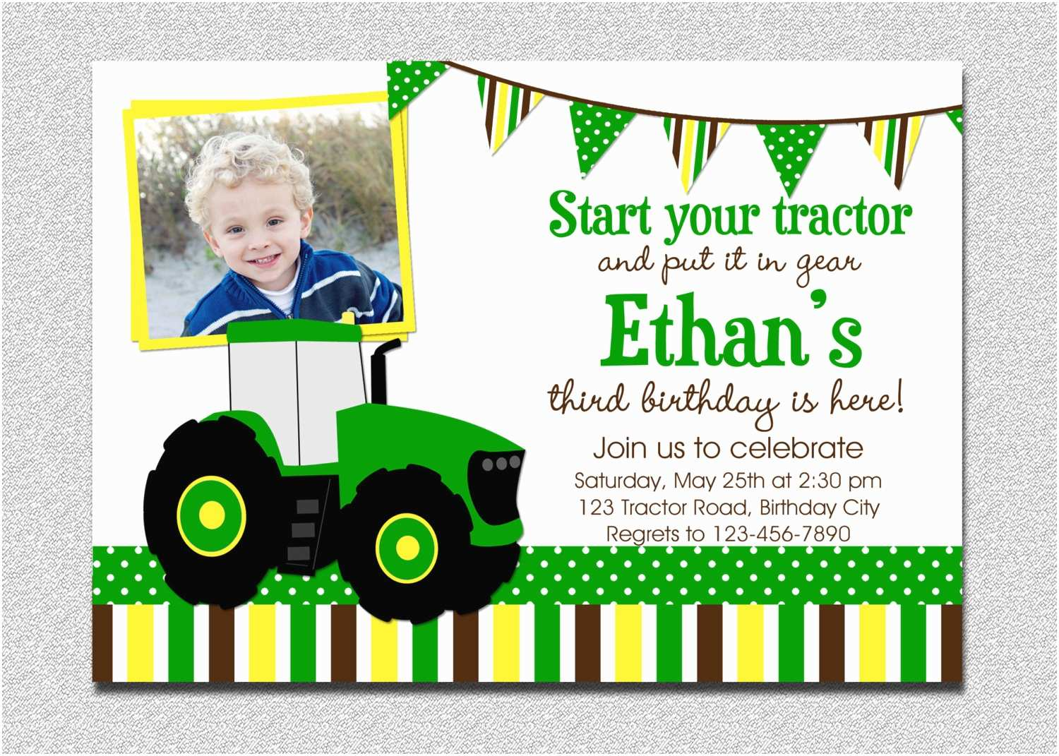 Tractor Birthday Invitations Create Tractor Birthday Invitations Free Templates