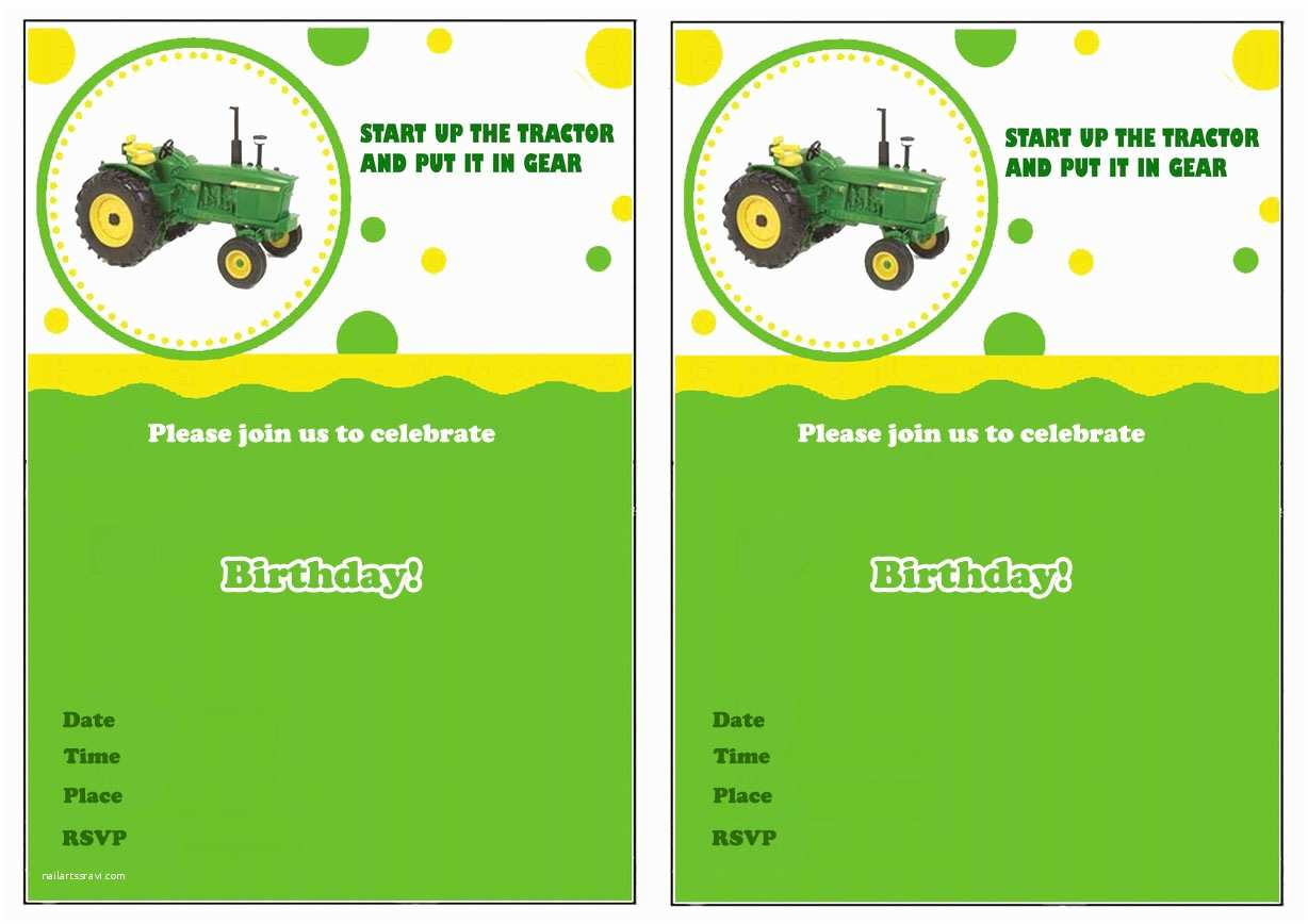 Tractor Birthday Invitations Free Printable Kids Tractor Birthday Invitation