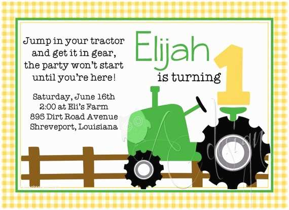 Tractor Birthday Invitations Items Similar to Tractor Birthday Party Invitation