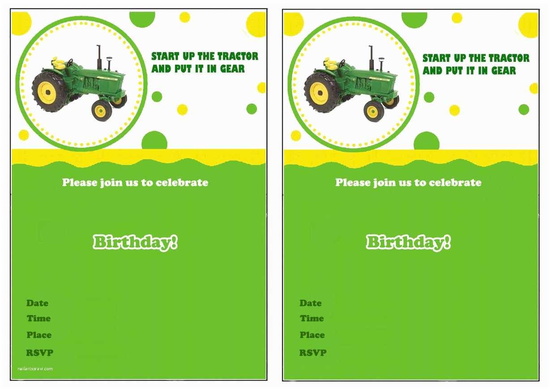Tractor Birthday Invitations John Deere Birthday Invitations – Birthday Printable
