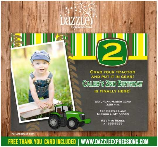Tractor Birthday Invitations Printable Chalkboard Tractor Birthdayinvitation Boys