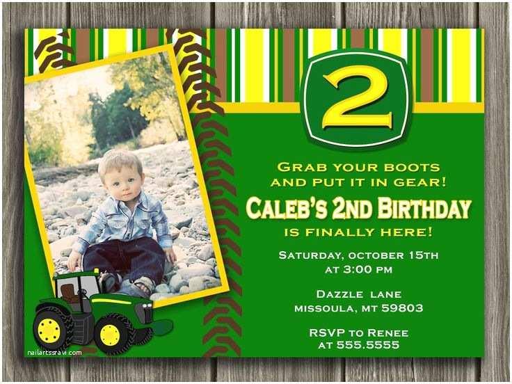 Tractor Birthday Invitations Tractor Birthday Invitation John Deer