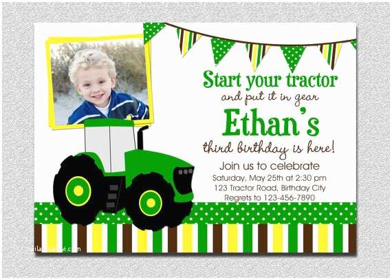 Tractor Birthday Invitations Tractor Birthday Invitation Tractor Birthday Party