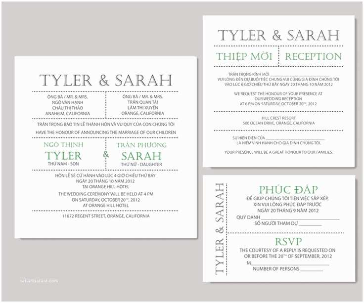 Traditional Vietnamese Wedding Invitations Impressive Vietnamese Wedding Invitations