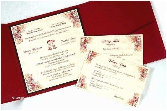 Traditional Vietnamese Wedding Invitations Vietnamese Wedding Invitation Template Mathmania