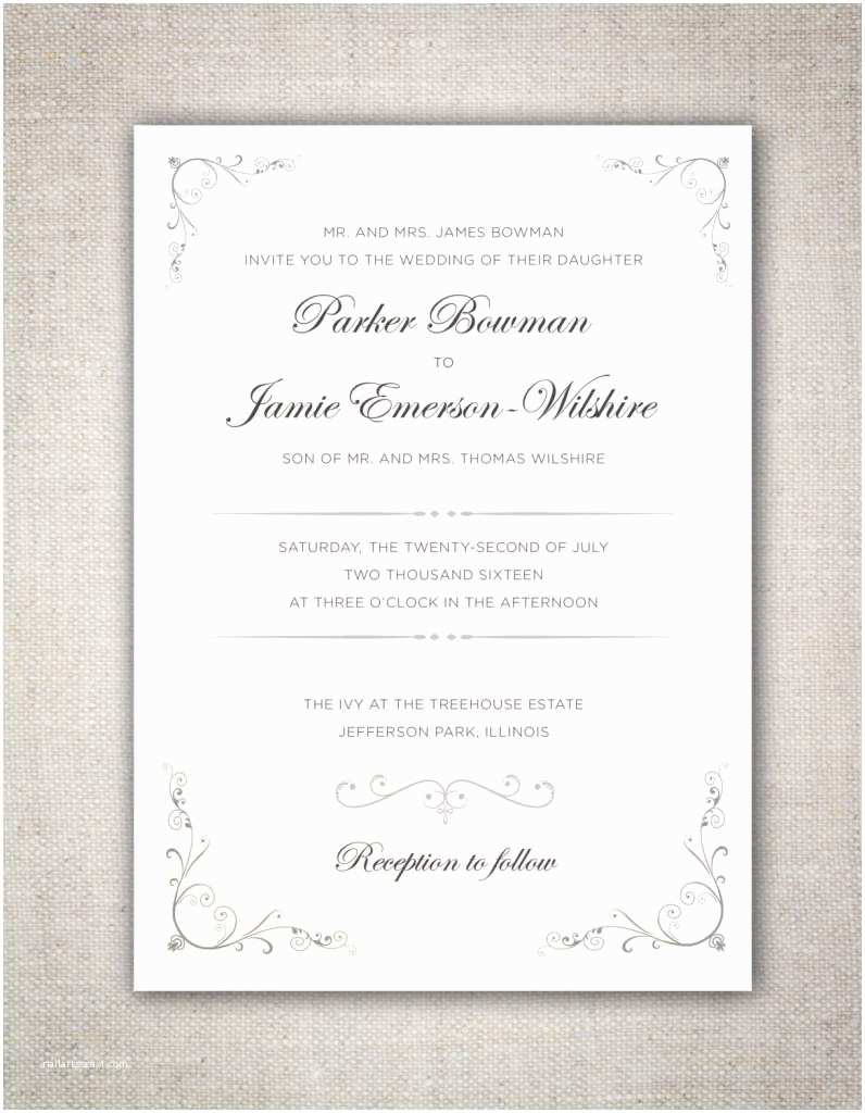 Traditional Wedding Invitation Wording How Were You Invited