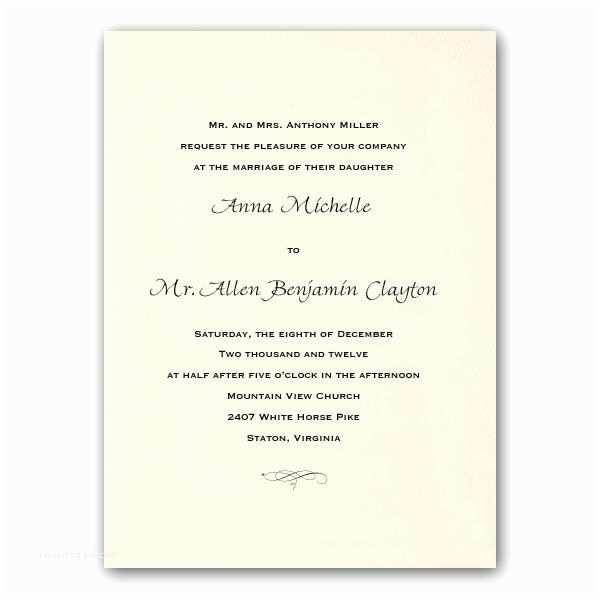 Traditional Wedding Invitations Traditional Ecru Wedding Invitations