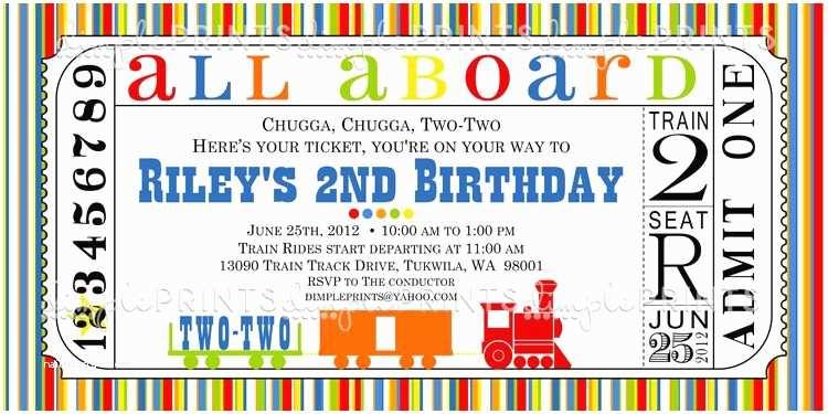Train Birthday Invitations 9 For Kid Free Printable
