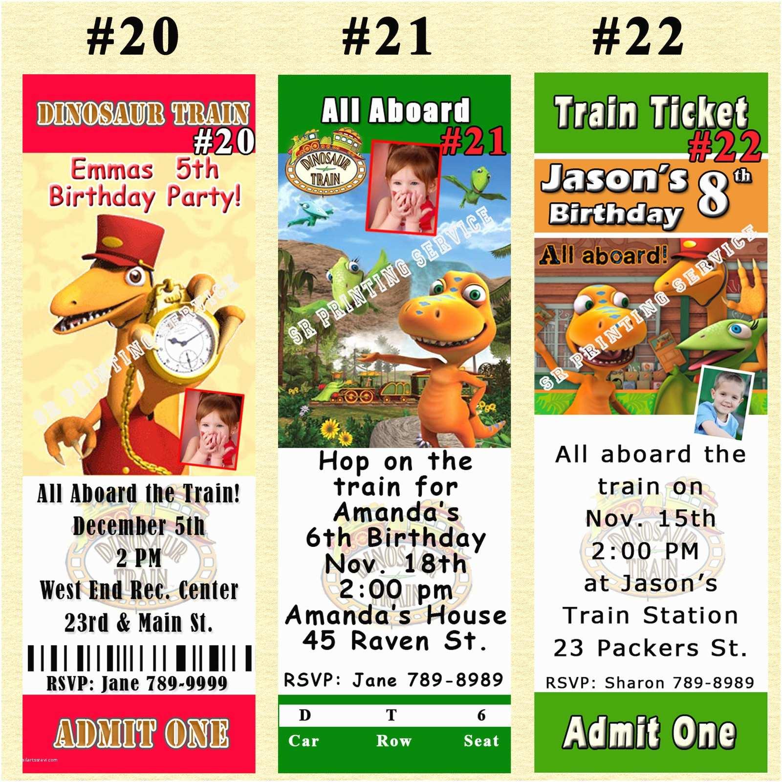Train Birthday Invitations Dinosaur Invitation You Print Digital File